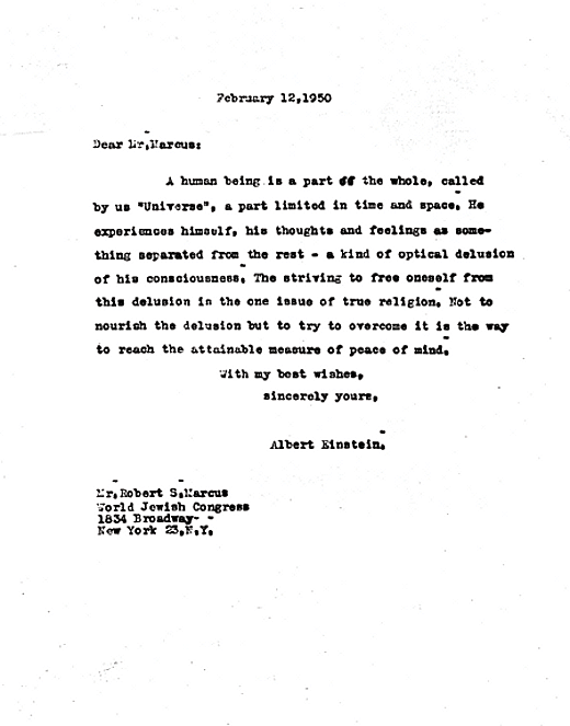 Einstein's letter to a grieving father